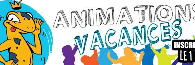 Programme des animations vacances d'avril