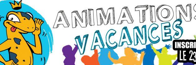 Les programmes des animations vacances d'été